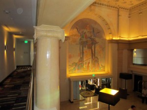 """Close-Up of ATT's """"Happy Hunting Ground"""" mural at the Marriott"""